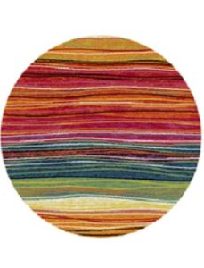 multi color circular rug