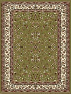 Green White Traditional Rug