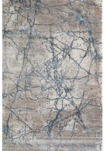 Blue neutral color distress looking rug