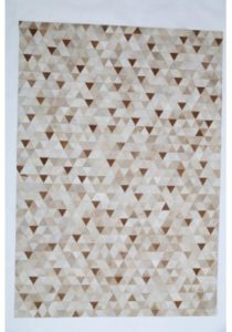 Neutral Color triangle cowhide rug