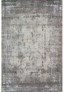 Neutral Distressed Pattern Rug with blue