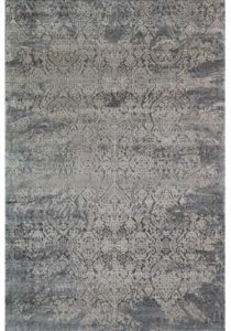 Muted design distressed rug