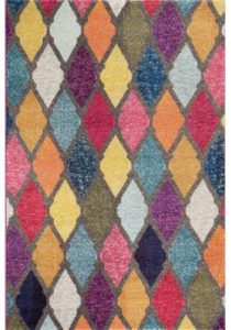 bright color rug