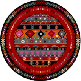 Multi color round rug