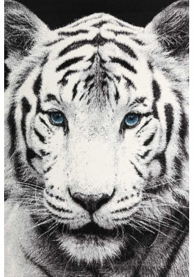 White Tiger Rug 3D Look